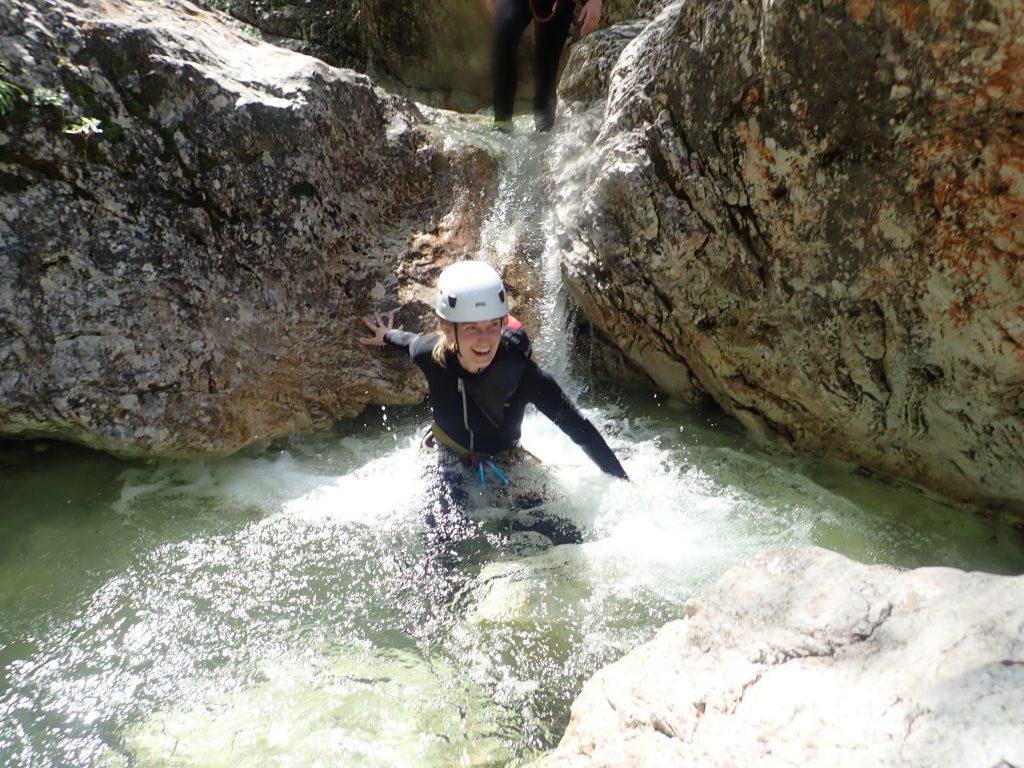 canyoning in Slovenië