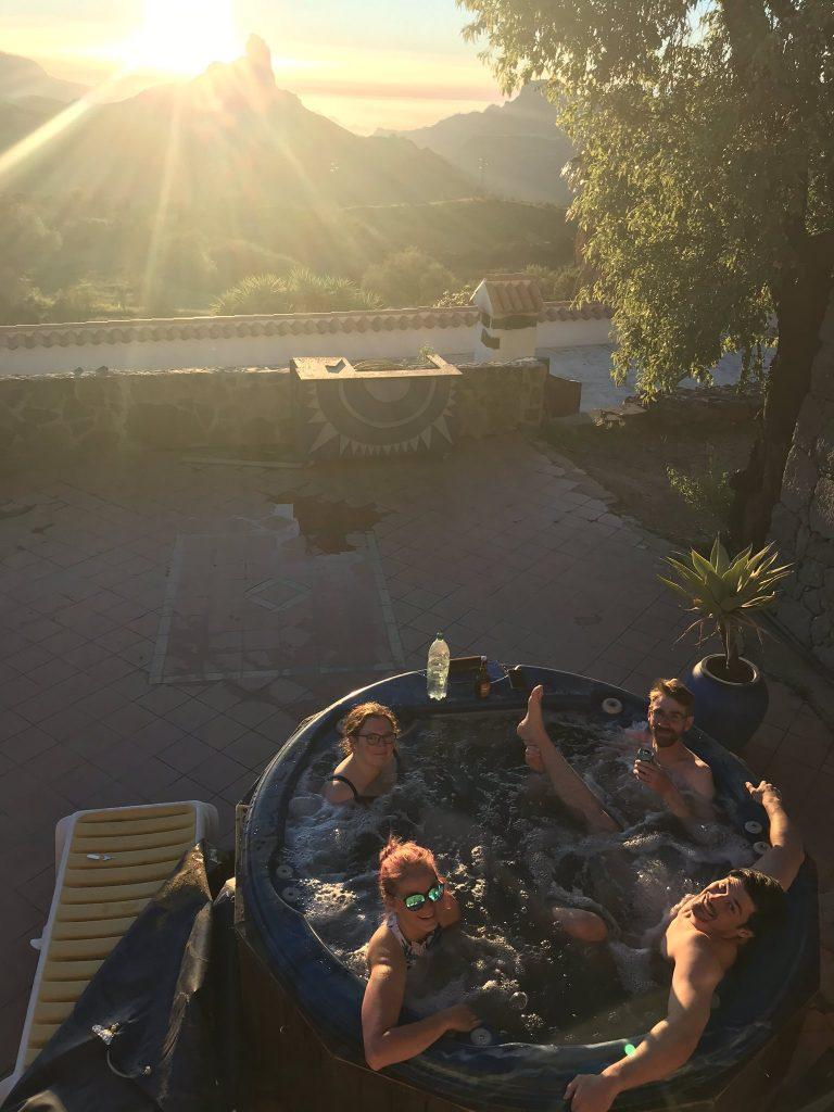 Uitzicht van het hostel op Gran Canaria waar ik twee maanden gewerkt heb